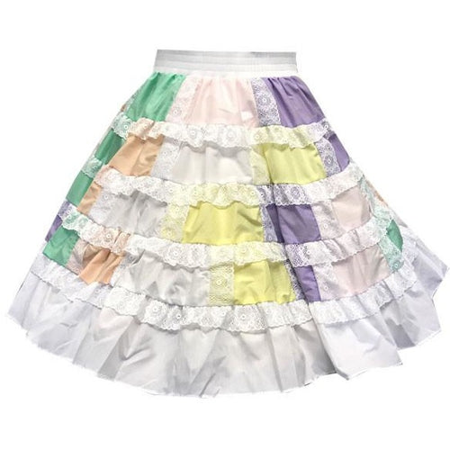 Patchwork Square Dance Skirt, Skirt - Square Up Fashions