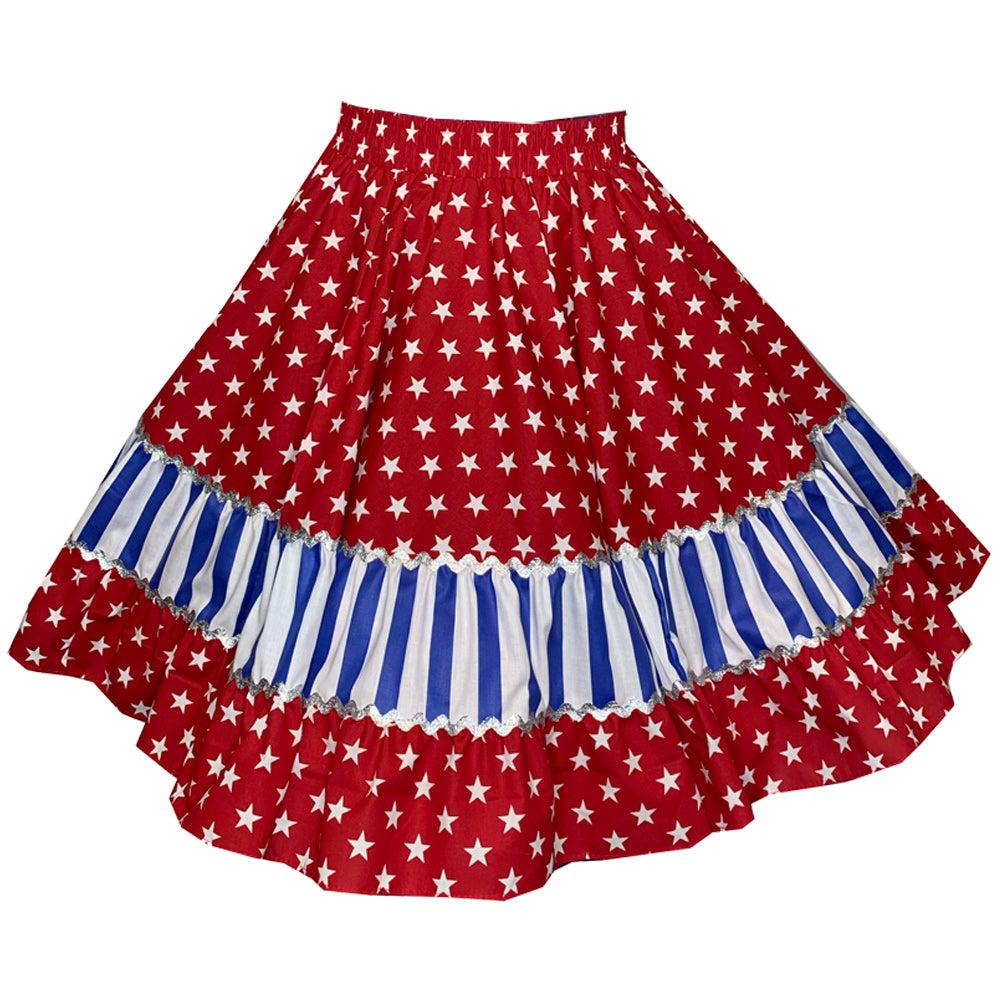 Stars & Stripes Square Dance Skirt, Skirt - Square Up Fashions