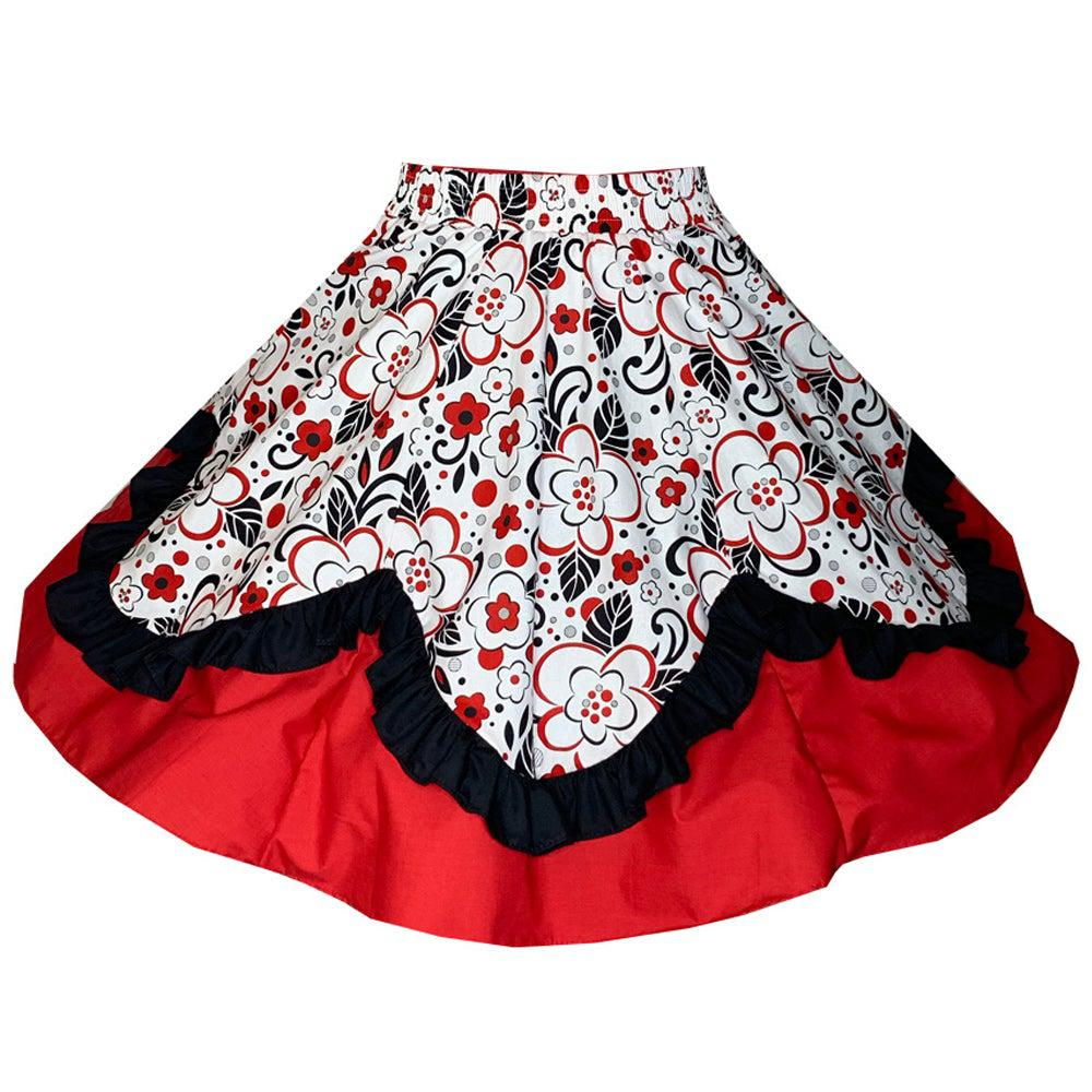 Scalloped  Square Dance Skirt, Skirt - Square Up Fashions