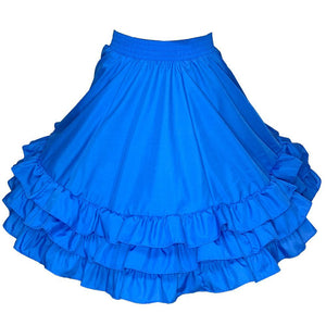 3 Ruffle Square Dance Skirt, Skirt - Square Up Fashions