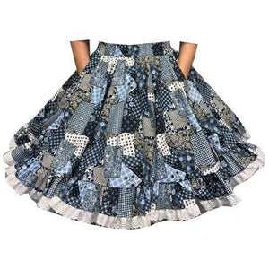 Country Quilt Square Dance Skirt, Skirt - Square Up Fashions