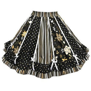Elegant Polka Dot Square Dance Skirt, Skirt - Square Up Fashions