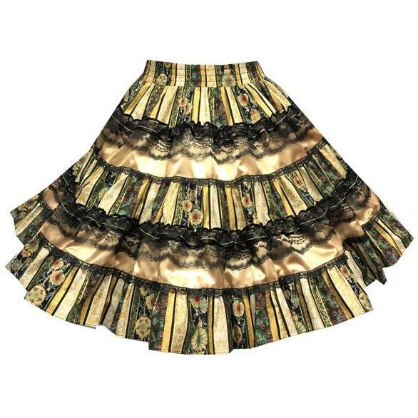Christmas Stripe Square Dance Skirt, Skirt - Square Up Fashions