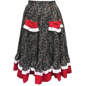 Western Bandana Prairie Skirt, Prairie - Square Up Fashions