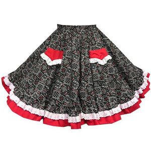 Western Bandana Square Dance Skirt, Skirt - Square Up Fashions
