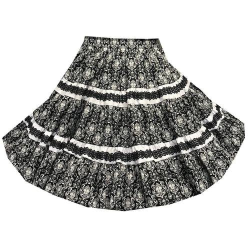 Damask Square Dance Skirt, Skirt - Square Up Fashions