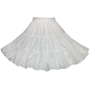 3 Tier Eyelet Square Dance Skirt, Skirt - Square Up Fashions