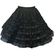 See Through 6 Tier Square Dance Skirt, Skirt - Square Up Fashions