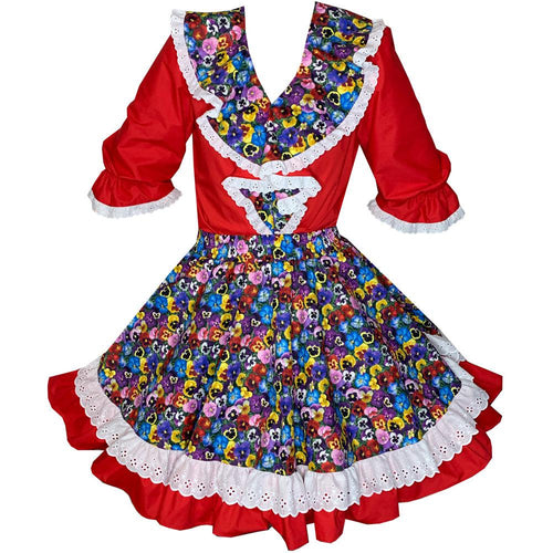 Garden Pansy Square Dance Outfit, Set - Square Up Fashions