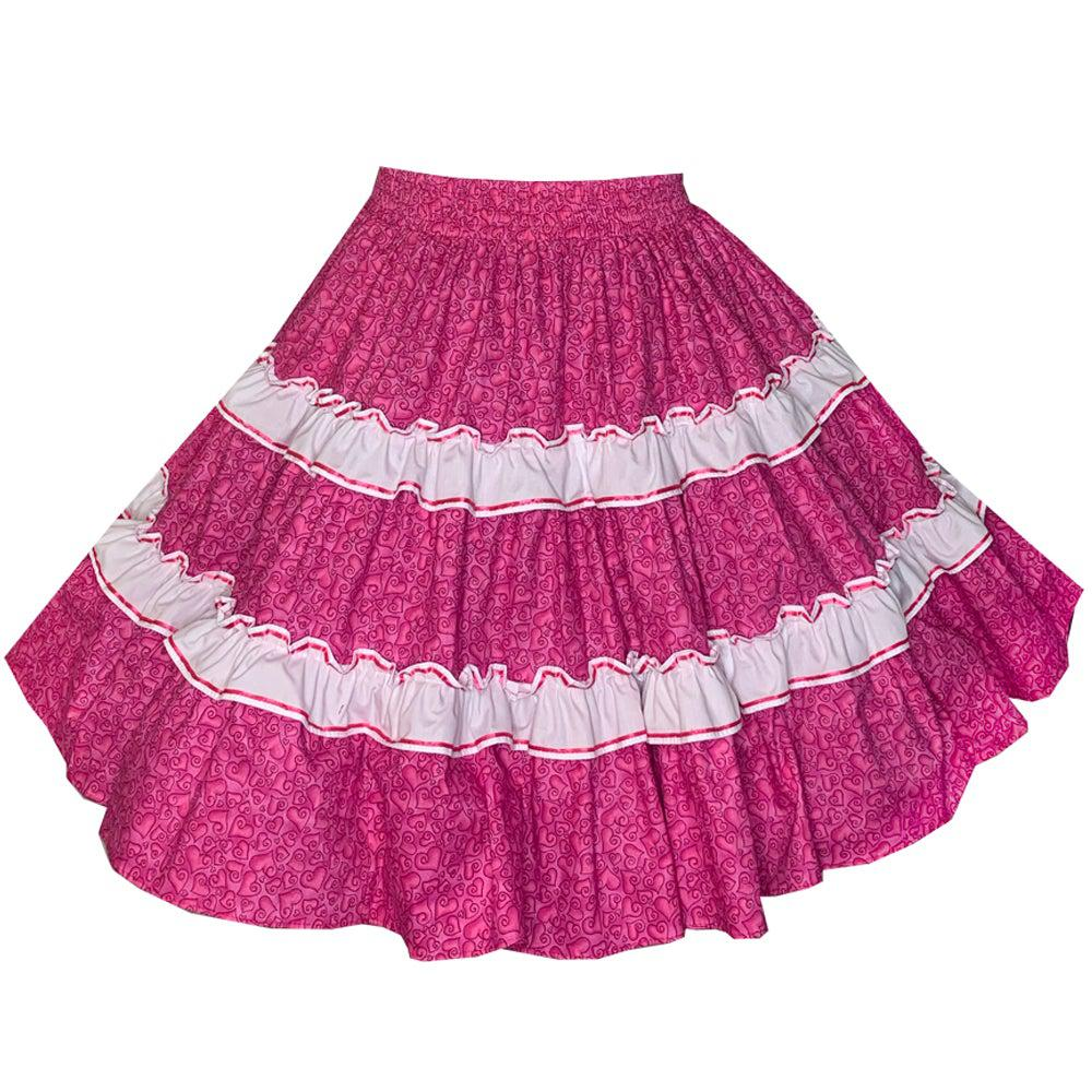 Hearts Galore Square Dance Skirt, Skirt - Square Up Fashions