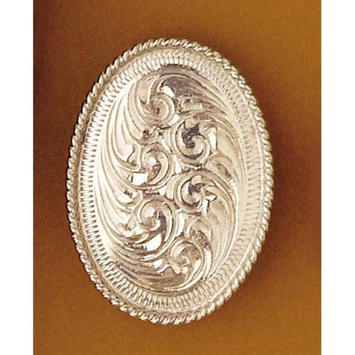 Engraved Silver Oval Scarf Tie Slide, Scarf Slides - Square Up Fashions
