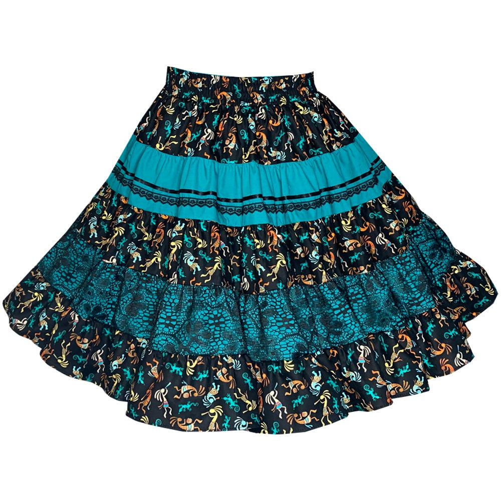 Aztec Square Dance Skirt, Skirt - Square Up Fashions