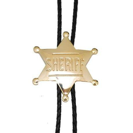 Gold Sheriff Badge Bolo, Bolo Ties - Square Up Fashions