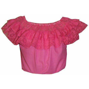 Childrens Round Neck Lace Blouse, Childrens Clothing - Square Up Fashions