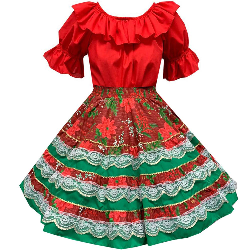 4454373a5f63 ... Yuletide Christmas Square Dance Outfit, Set - Square Up Fashions ...