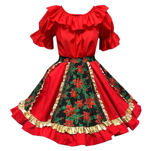 Fancy Christmas Square Dance Outfit, Set - Square Up Fashions