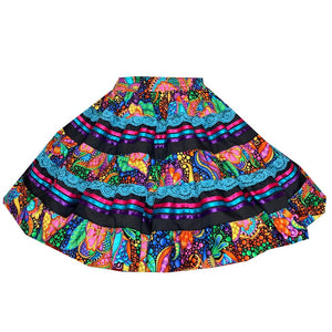 Vivid Fantasia Square Dance Skirt, Skirt - Square Up Fashions