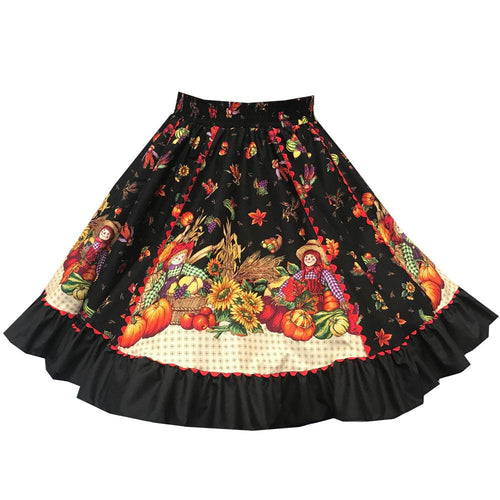 Harvest Print Square Dance Skirt, Skirt - Square Up Fashions