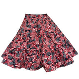 Flag Print Square Dance Skirt