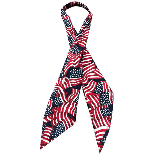 Flag Print Tie, Accessories - Square Up Fashions