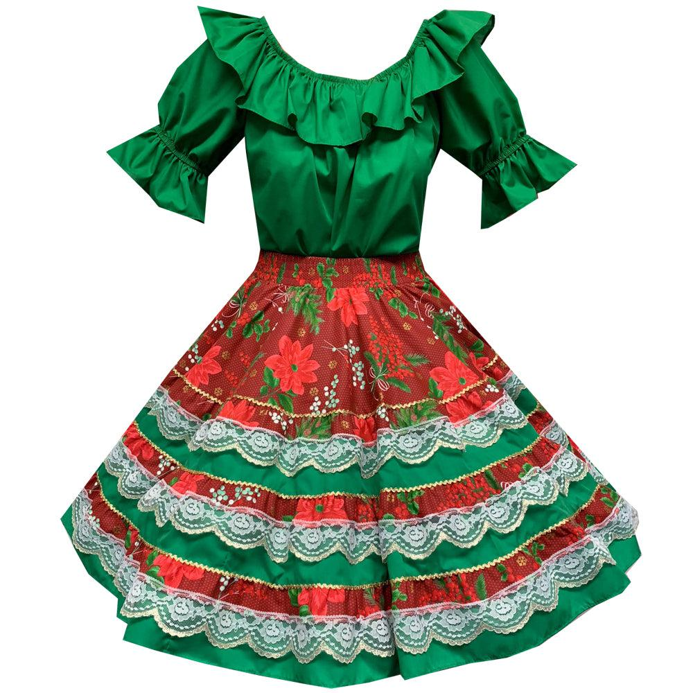 Yuletide Christmas Square Dance Outfit, Set - Square Up Fashions