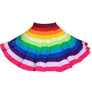 Rainbow Square Dance Skirt, Skirt - Square Up Fashions