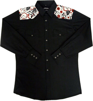 Mens Shirt With MATCHING Print Yoke, Mens Shirt - Square Up Fashions
