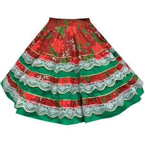 Yuletide Christmas Square Dance Skirt, Skirt - Square Up Fashions