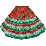 Yuletide Christmas Square Dance Skirt