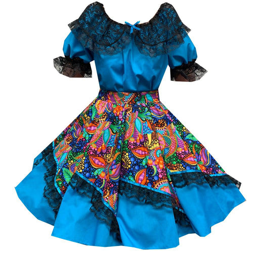 Colorful Carnival Square Dance Outfit, Set - Square Up Fashions