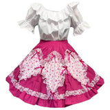 Valentines Day Heart Print Square Dance Outift, Set - Square Up Fashions