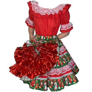 Christmas Stockings Square Dance Outfit