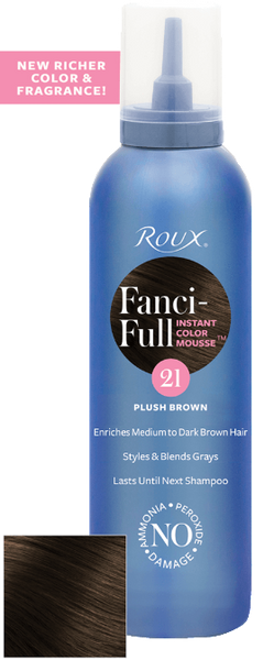 Roux Fanci-full Plush Brown 21 Mousse 6 oz
