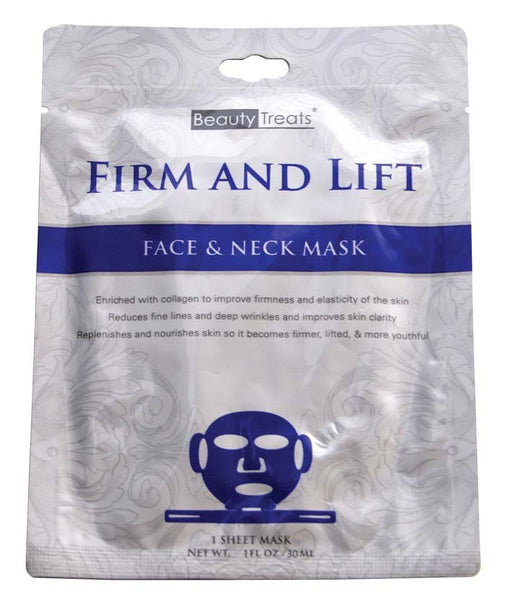 Beauty Treats Firm and Lift Face & Neck Sheet Mask