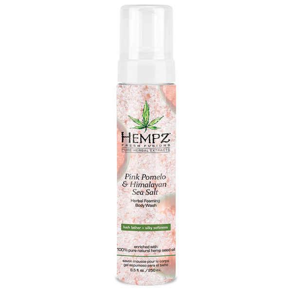 Hempz Pink Pomelo & Himalayan Sea Salt Herbal Foaming Body Wash 8.5 oz