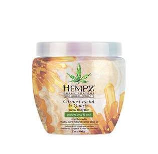 Hempz Citrine Crystal & Quartz Herbal Body Buff 7 oz