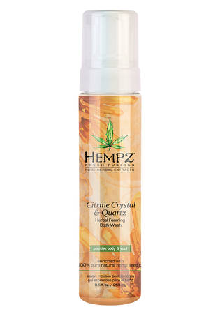 Hempz Citrine Crystal & Quartz Herbal Foaming Body Wash 8.5 oz