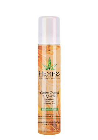 Hempz Citrine Crystal & Quartz Herbal Face, Body and Hair Hydrating Mist 5.07 oz