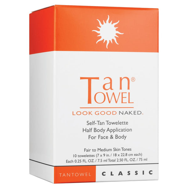 Tan Towel Half Body Classic Self-Tan Towelettes 10 pack