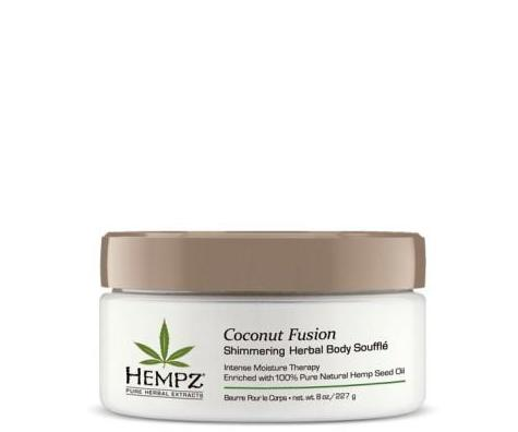Hempz Coconut Fusion Shimmering Herbal Body Souffle 8 oz