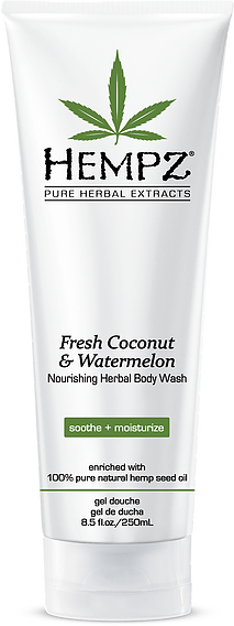 Hempz Fresh Coconut & Watermelon Nourishing Herbal Body Wash 8.5 oz