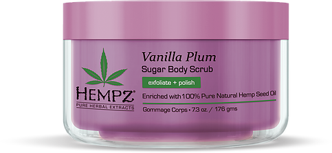Hempz Vanilla Plum Herbal Sugar Body Scrub 7.3 oz