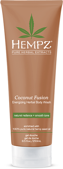 Hempz Coconut Fusion Energizing Herbal Body Wash 8.5 oz