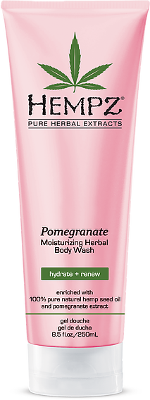Hempz Pomegranate Moisturizing Herbal Body Wash 9 oz