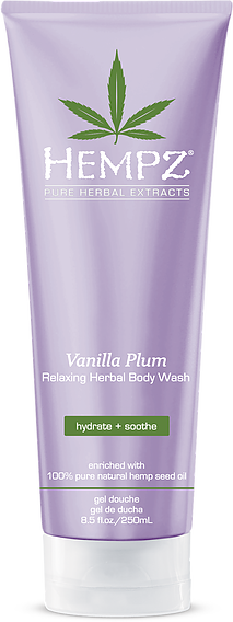 Hempz Vanilla Plum Relaxing Herbal Body Wash 8.5 oz