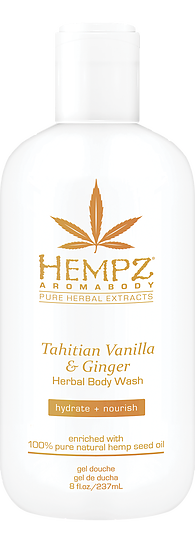 Hempz Tahitian Vanilla & Ginger Body Wash 8 oz