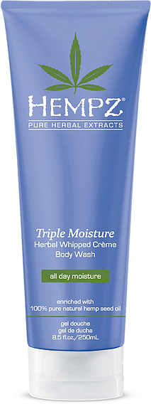 Hempz Triple Moisture Herbal Whipped Creme Body Wash 8.5 oz