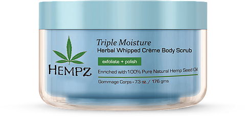 Hempz Triple Moisture Herbal Whipped Creme Body Scrub 7.3 oz