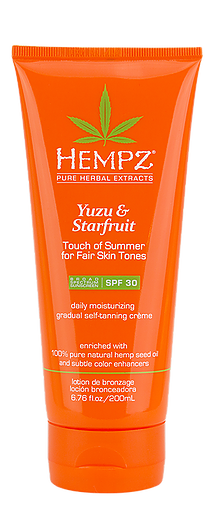 Hempz Yuzu & Starfruit Touch of Summer Self-Tanning Creme 6.76 oz