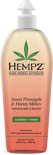 Hempz Sweet Pineapple & Honey Melon Hydrating Bath & Body Oil 6.76 oz
